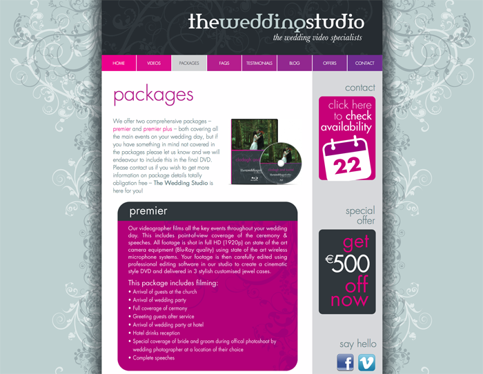 The Wedding Studio Packages